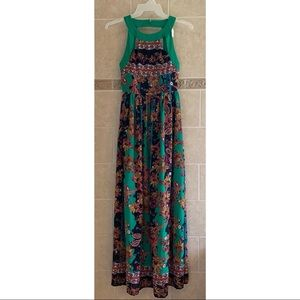 Gianni Bini Green Print Maxi Dress